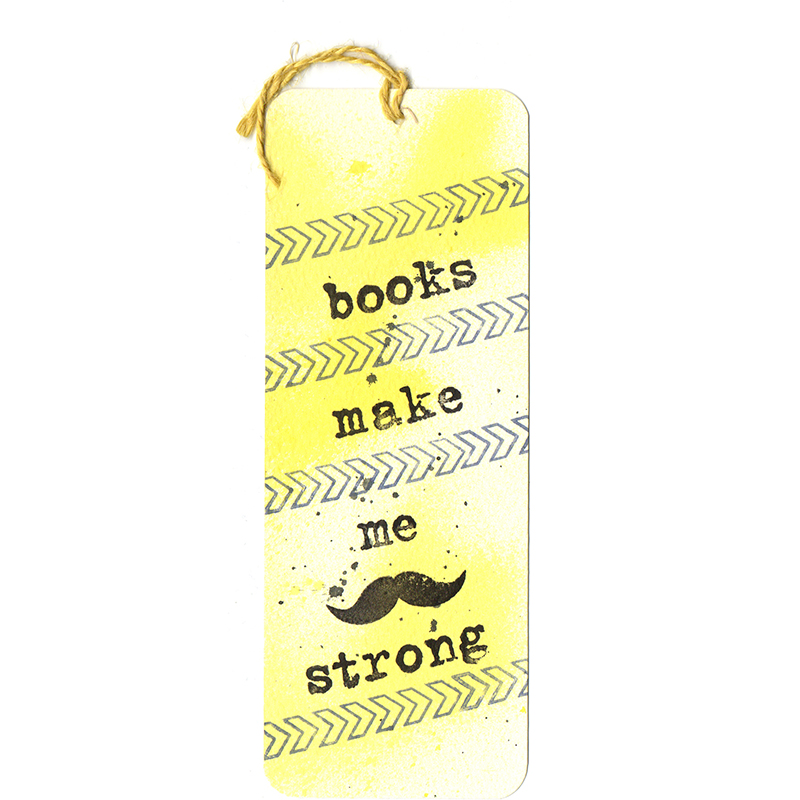 Закладка Books make me strong | Bukio